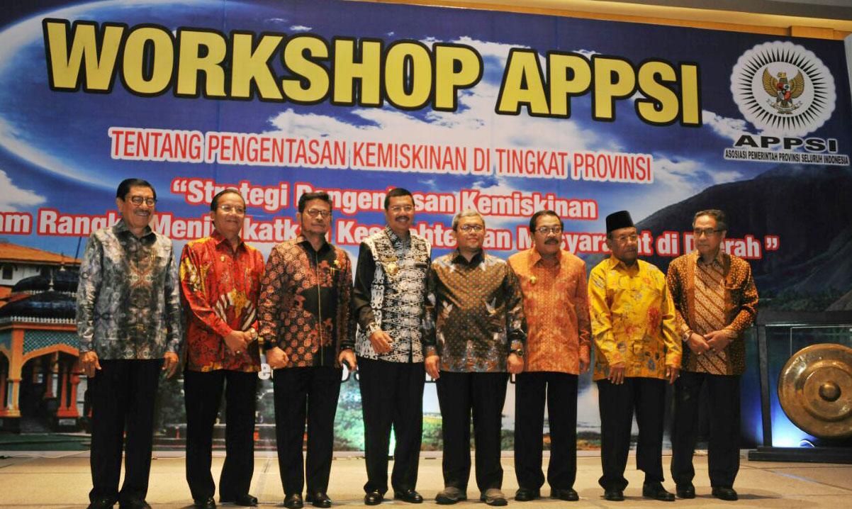 Workshop Asosiasi Pemerintah Provinsi (APPSI) di Hotel Santika Medan, Rabu (20/09/2017)