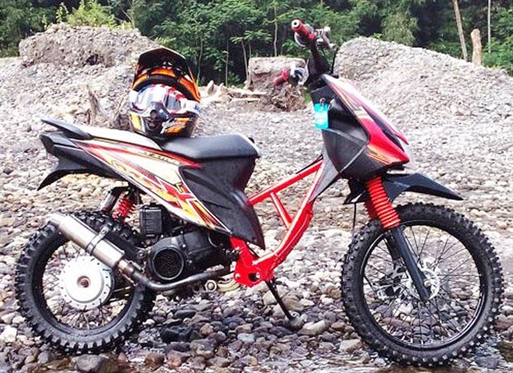 Modifikasi Honda Beat Jadi Trail