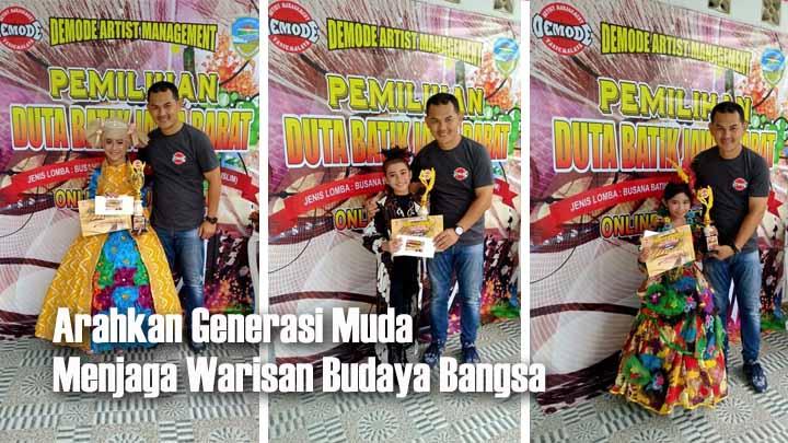Demode Artist Management Tasikmalaya Gelar Pemilihan Duta Batik Secara Virtual