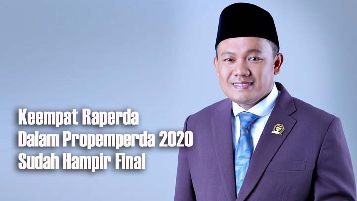 DPRD Bakal Rampungkan Empat Raperda di Akhir Tahun Anggaran 2020