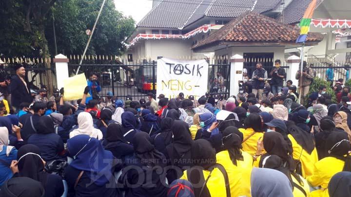 Koropak.co.id - Aksi Tasik Menggugat Omnibus Law, Warnai Hari Jadi ke-19 Kota Tasikmalaya