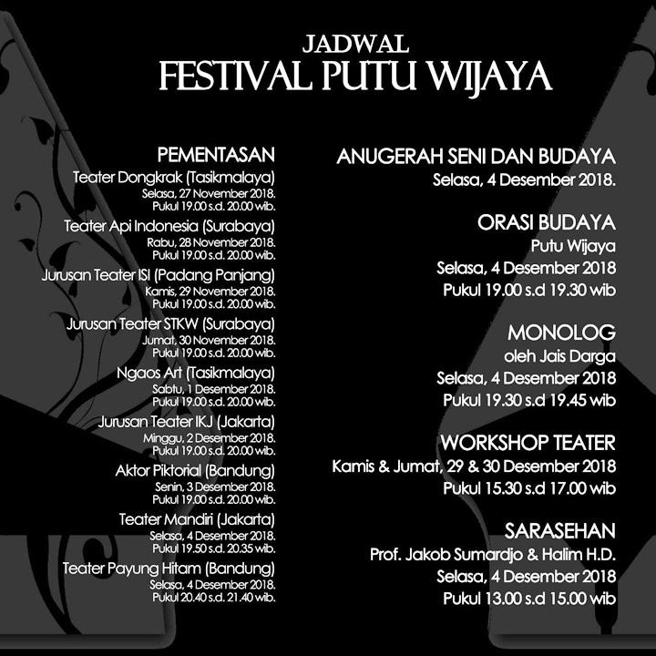 Koropak.co.id - Anugerah Budaya dan Festival Putu Wijaya Segera Digelar 3