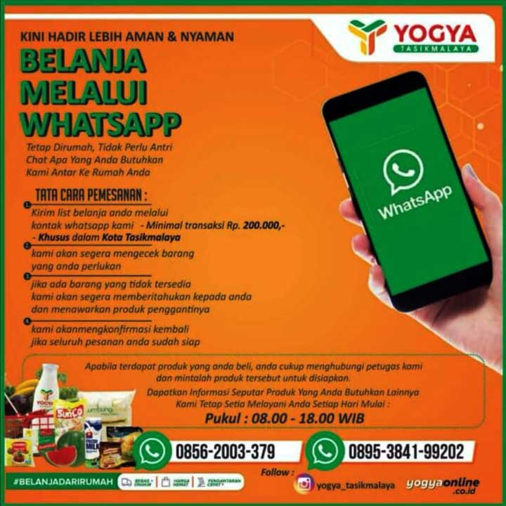 Koropak.co.id - Belanja di Yogya HZ Tasikmalaya Kini Lebih Mudah, Cukup Lewat WhatsApp
