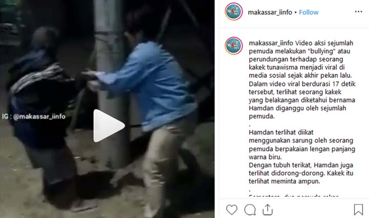 Koropak.co.id - Beredar Video Viral Sekelompok Pemuda Bully Kakek Tunawisma (2)