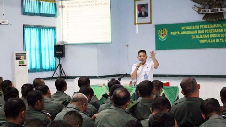 Koropak.co.id - BNNK Ciamis Sosialisasikan P4GN Di Lingkungan Kodim 0613 Ciamis (5)