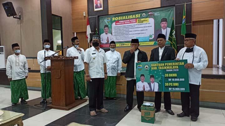 Koropak.co.id - Bupati Tasikmalaya Gandeng DMI, Intensifkan Sosialisasi PSBB
