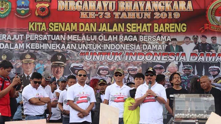 Koropak.co.id - Deklarasi Damai, Puncak Peringatan HUT Bhayangkara di Garut (3)