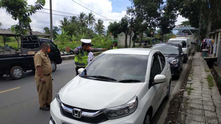 Koropak.co.id - Di Posko PRH Indihiang, Tak Satupun Kendaraan Lolos Pemeriksaan