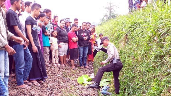 Koropak.co.id - Di Tasikmalaya, Pria Tanpa Indentitas Tewas Tersambar Kereta Api (3)