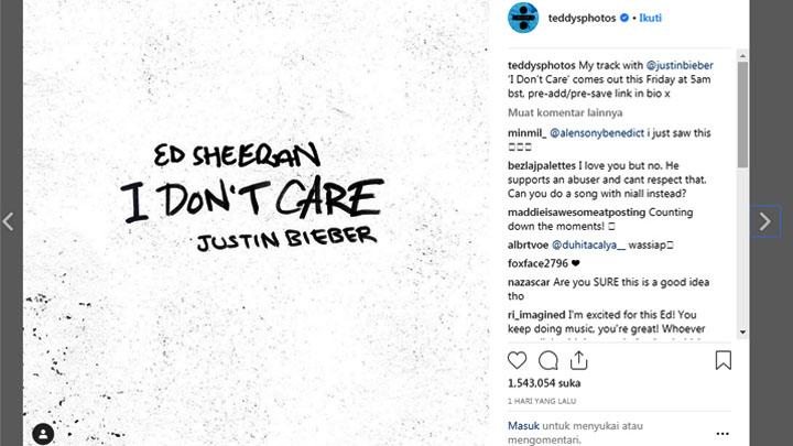 Koropak.co.id - Ed Sheeran Kembali Duet Dengan Justin Bieber (2)
