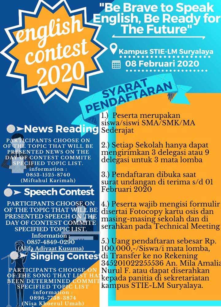 Koropak.co.id - English Club STIE-LM Suryalaya Siap Gelar English Contest 2020 (3)