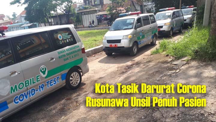 Koropak.co.id - Evakuasi 40 Pasien Covid-19, Ambulans Kembali Hilir Mudik di Kota Tasik