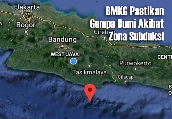 Koropak.co.id - Gempa Bumi 4,8 Magnitudo Guncang Wilayah Kabupaten Tasikmalaya 1
