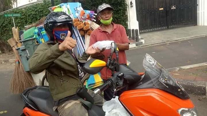 Koropak.co.id - GOMAX Rider Salurkan Bantuan Untuk Pejuang Ojol Dan Kaum Dhuafa