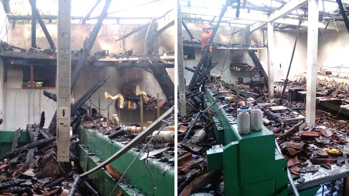 Koropak.co.id - Gudang Mesin Border Di Tasikmalaya Hangus Kebakaran