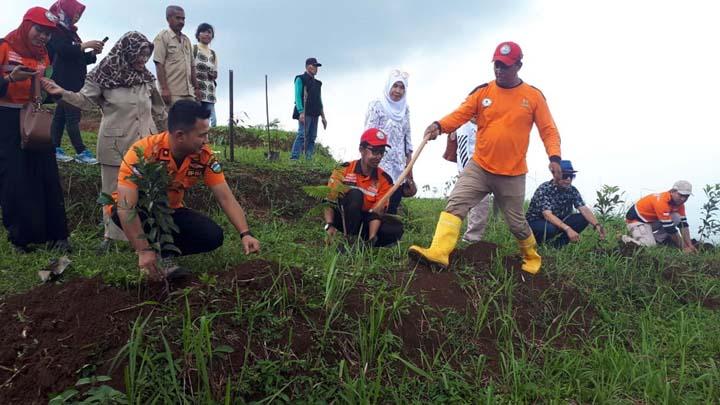 Koropak.co.id - Hari Kanker Sedunia, Baznas Hijaukan Pagerageung Kabupaten Tasikmalaya (2)