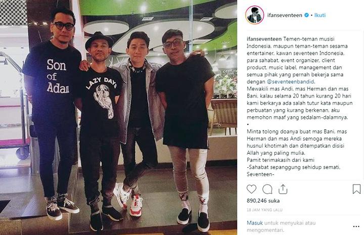 Koropak.co.id - Ifan Seventeen Pamit dari Belantika Musik Tanah Air (2)