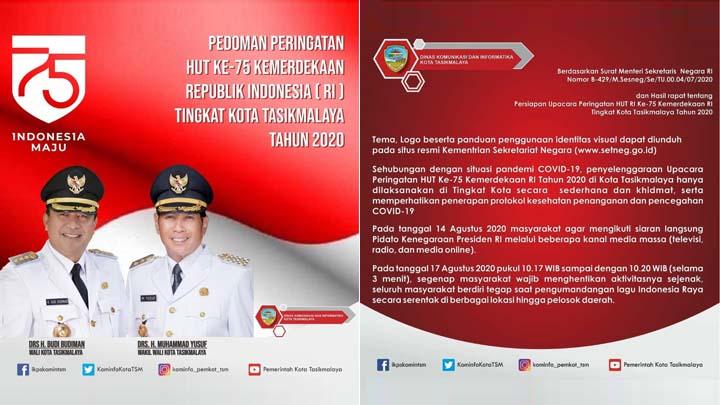Koropak.co.id - Ini Pedoman Peringatan HUT Ke-75 Kemerdekaan Republik Indonesia Tingkat Kota Tasikmalaya (2)