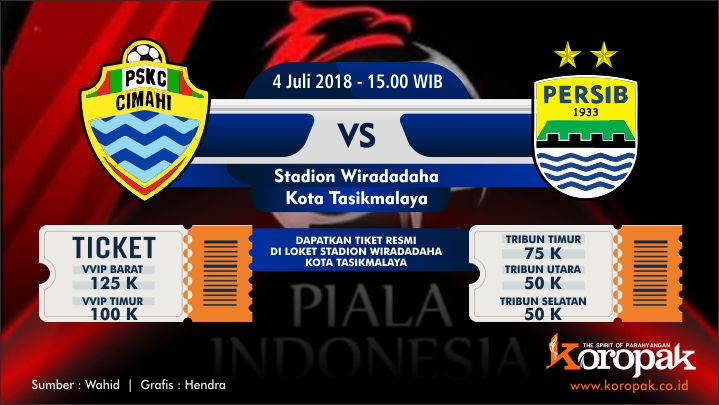 Inilah Harga Tiket PSKC Vs Persib Bandung