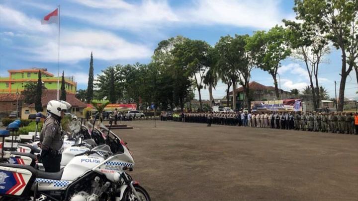 Koropak.co.id - Kapolres Garut Pimpin Apel Operasi Zebra Lodaya (1)