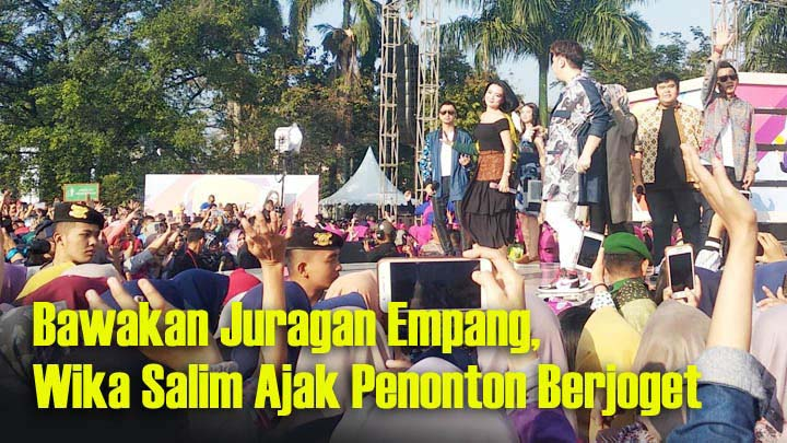 Koropak.co.id - Kecantikan Wika Salim Bius Penonton Karnaval SCTV Ciamis (3)