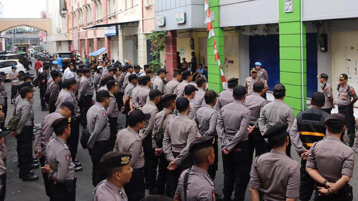 Koropak.co.id - Kepolisian Kawal Aksi Demo Ojol dan GMBI di Kota Tasikmalaya (3)