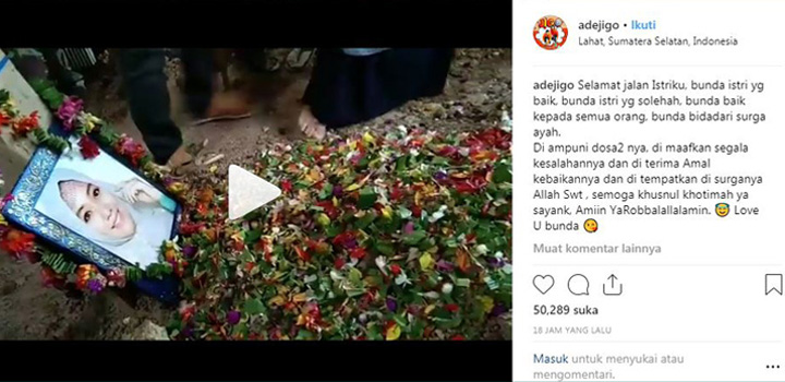 Koropak.co.id - Kesedihan Ade Jigo Ditinggalkan Sang Istri (2)