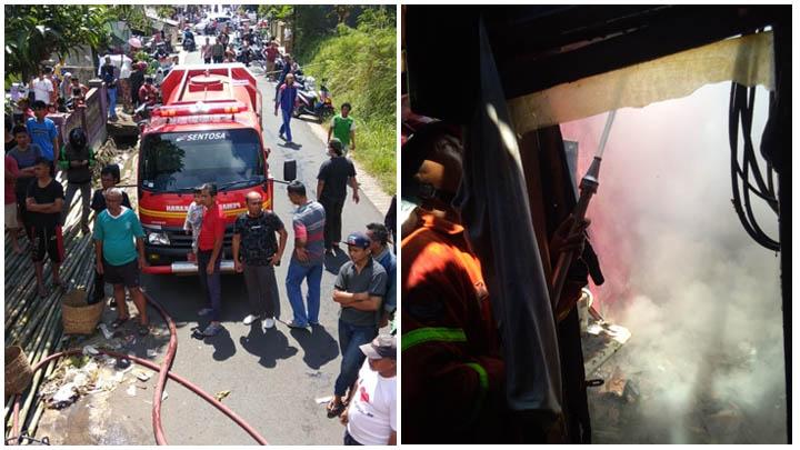 Koropak.co.id - Kompor Gas Meledak, Rumah di Tasikmalaya Ludes Terbakar (2)