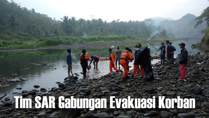 Koropak.co.id - Korban Jatuh Terseret Arus Ciwulan Tasikmalaya Ditemukan