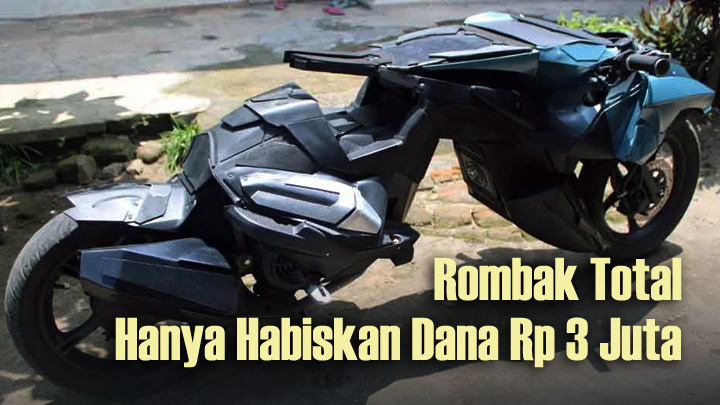 Koropak.co.id - Kreatif, Warga Jombang Ciptakan Motor Batman (3)