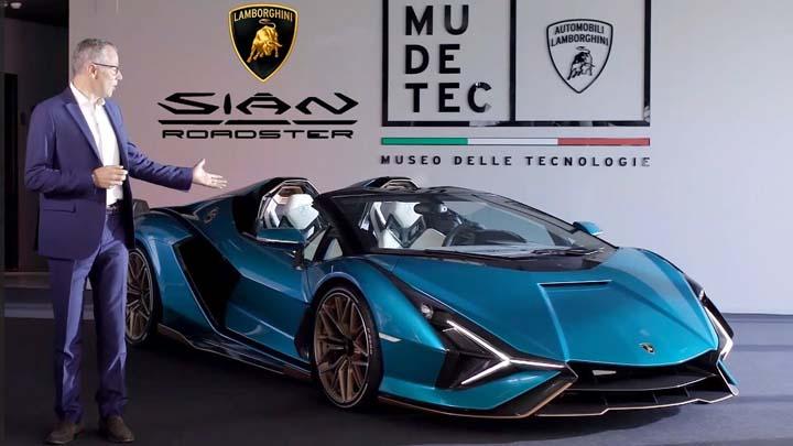 Koropak.co.id - Lamborghini Rilis Sian Roadster, Mobil Sport Roadster Paling Buas