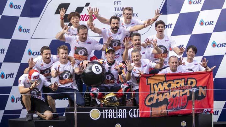 Koropak.co.id - Marc Marquez Sukses Kunci Gelar Juara Dunia MotoGP 2019 (2)