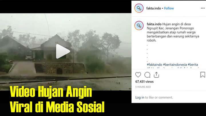 Koropak.co.id - Mengerikan! Rekaman Detik-Detik Hujan Angin di Ponorogo (1)