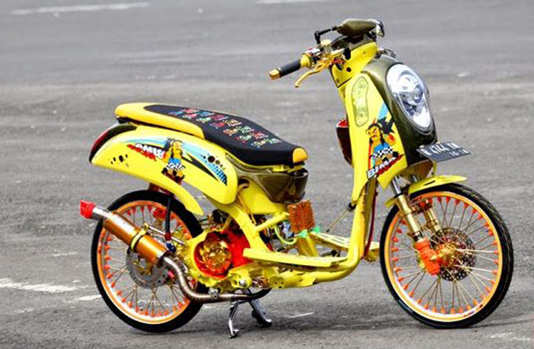 2020 Modifikasi Motor Scoopy Karbu Fi Babylook Thailook Simple