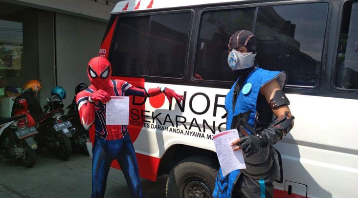 Momen Langka, Spiderman Donorkan Darah