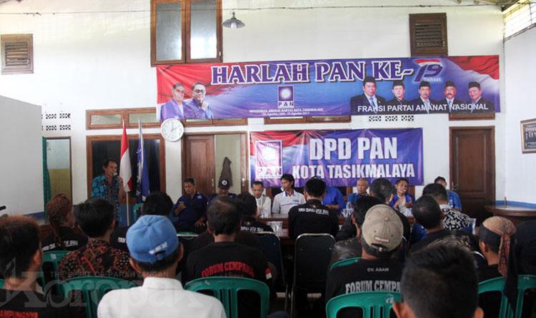 DPD PAN Kota Tasikmalaya Terima 3 Bacaleg