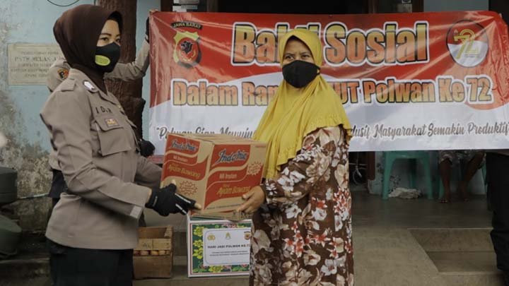 Koropak.co.id - Panti Jompo Di Kabupaten Tasikmalaya Didatangi Polwan Polres Tasikmalaya