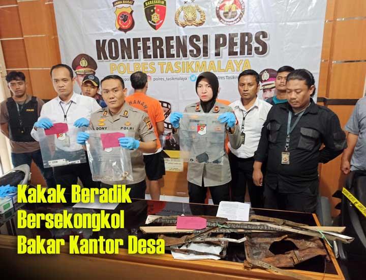 Koropak.co.id - Pelaku Pembakaran Kantor Desa Neglasari Akhirnya Terungkap (2)