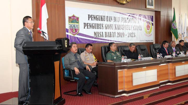 Koropak.co.id - Pengurus KONI Kabupaten Ciamis Periode 2019-2023 Resmi Dilantik (3)