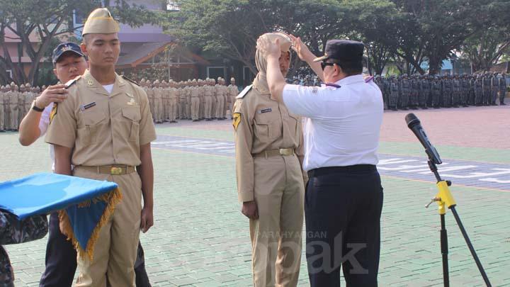 Koropak.co.id - Politeknik Pelayaran Banten Lantik Calon Taruna (1)