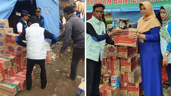 Koropak.co.id - Poltekpel Banten Distribusikan Bantuan Korban Banjir