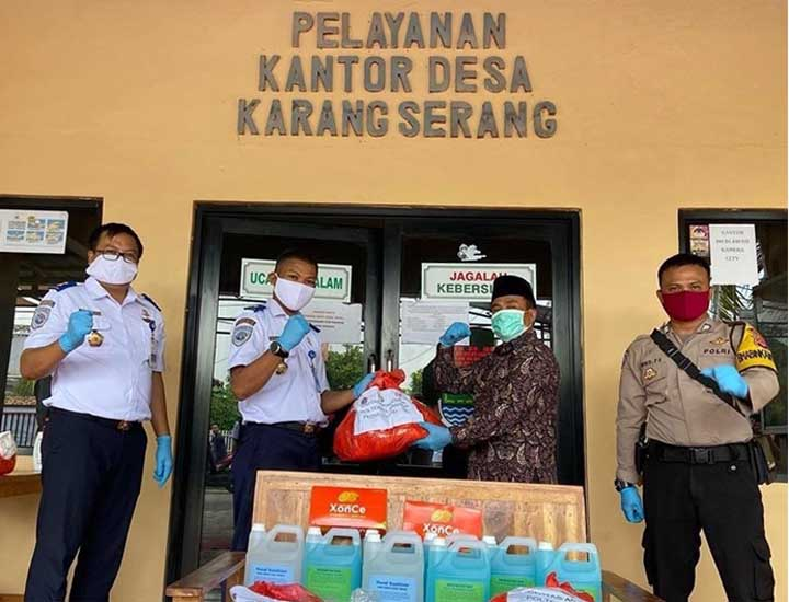 Koropak.co.id - Poltekpel Banten Salurkan Bantuan Bagi Warga Terdampak Covid-19