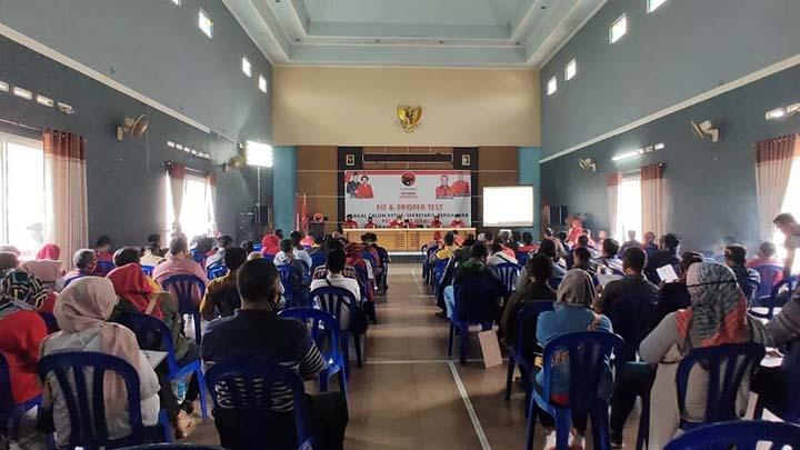 Koropak.co.id - Ratusan Calon Ketua PAC PDI Perjuangan Ikuti Fit and Proper
