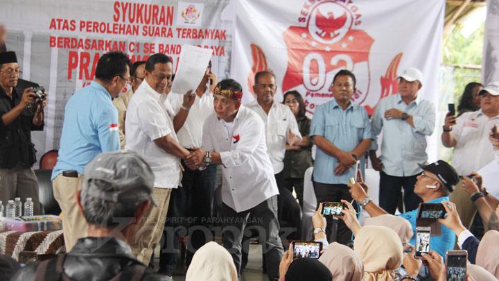 koropak.co.id - Relawan Prabowo-Sandi Gelar Syukuran (2)