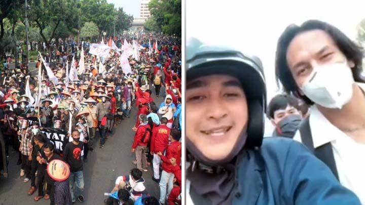 Koropak.co.id - Ribuan Orang Berbagai Provinsi, Demonstrasi Tolak UU Omnibus Law