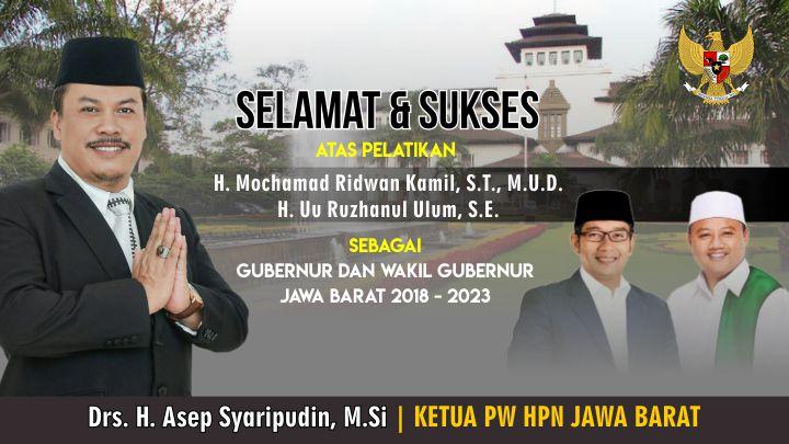 Koropak.co.id - Ridwan Kamil dan Uu Ruzhanul Ulum Resmi Dilantik 2