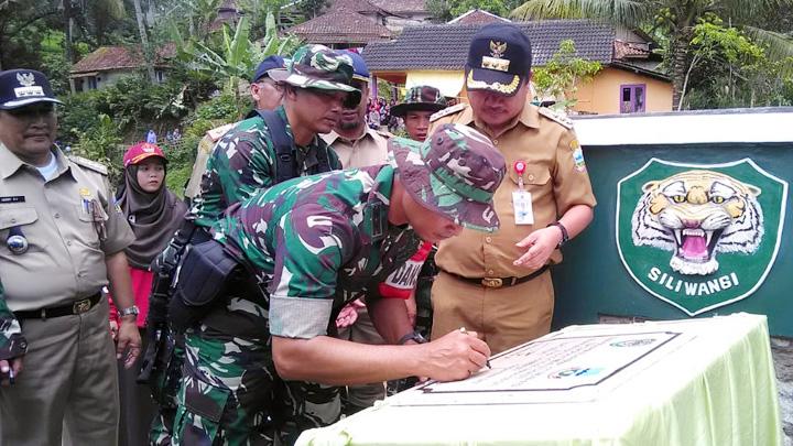 Koropak.co.id - Sah, Jembatan Karya TMMD Garut Diresmikan (2)