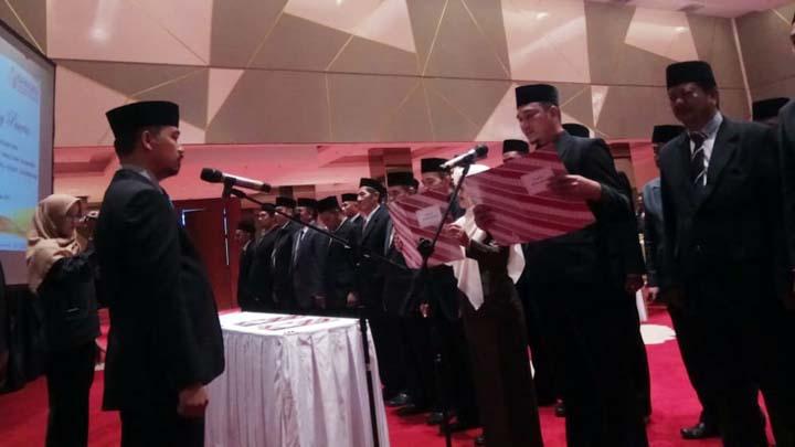 Koropak.co.id - Sebanyak 39 Kepala Sekretariat Panwascam di Kabupaten Tasikmalaya Dilantik