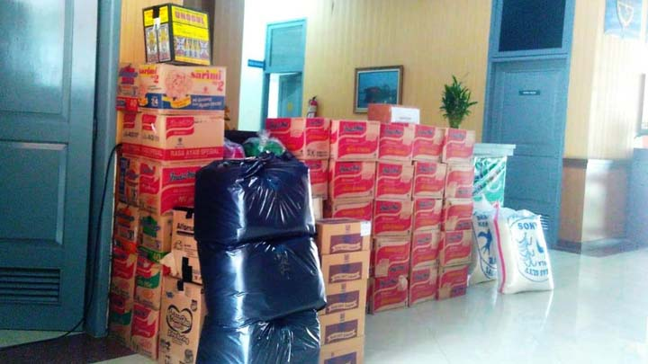 Koropak.co.id - Selama Sepekan, Poltekpel Banten Distribusikan Bantuan Banjir Kabodetab