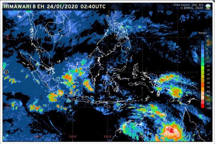 Koropak.co.id - Sepekan Ke Depan, Waspada Potensi Hujan Lebat (1)